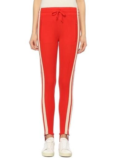 Etoile Isabel Marant Çizgili Tayt Pantolon Kırmızı